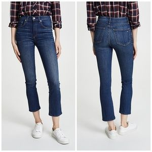 Rag & Bone Hana High Rise Crop Croped Jeans Baily